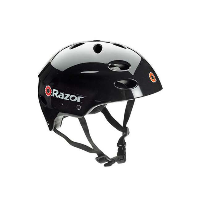15130610 + 97778 + 96785 Razor Pocket Mod Electric Retro Scooter + Youth Sport Helmet + Elbow & Knee Pads 6