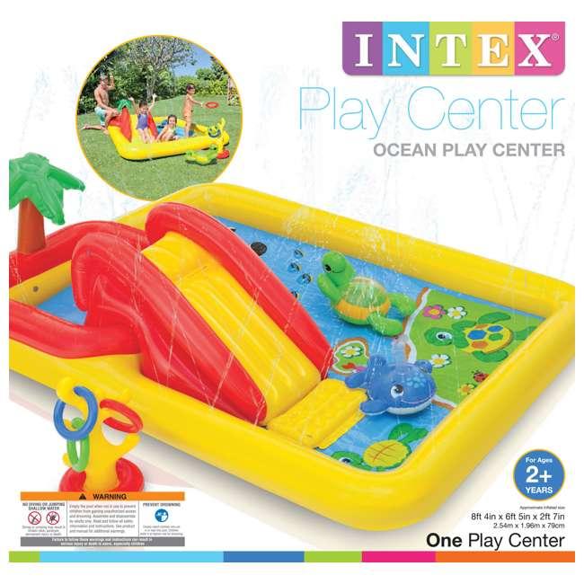 57454EP + 2 x 57453EP Intex Inflatable Ocean Kiddie Pool (2 Pack) & Intex Rainbow Ring Pool (2 Pack) 10