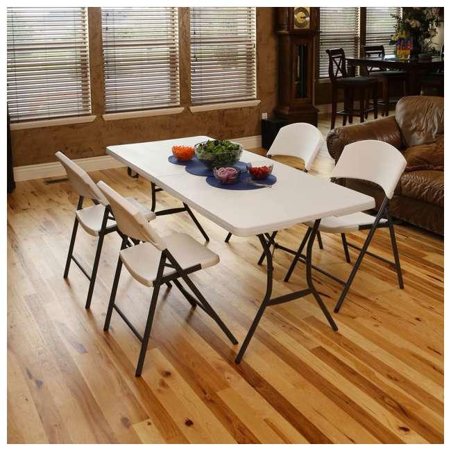 lifetime plastic folding chair white 4 piece 42810