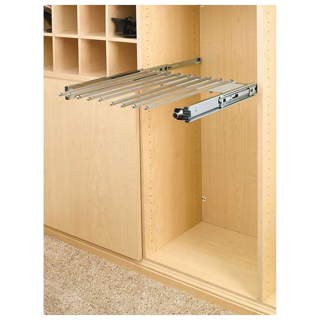PSC-2414CR Rev-A-Shelf PSC-2414CR 24-inch Chrome Pullout Pants Rack for 13 Pairs of Pants 1