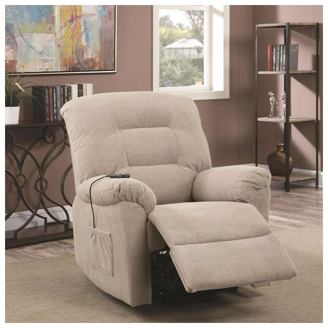 600399ii-U-A Coaster Home Furnishings Power Lift Recliner Chair With Remote Control(Open Box) 1