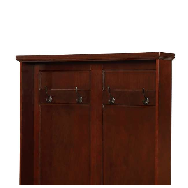 PF-15A7058 Powell Furniture Chadwick Multi-Functional Hall Tree, Brown 2