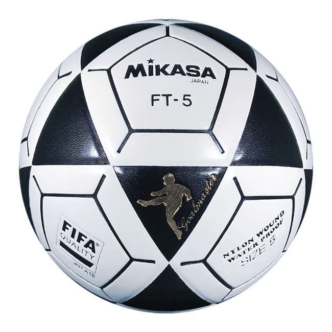 FT5A Mikasa USA Size 5 Foot Volley Soccer Ball, Black & White (2 Pack) 1