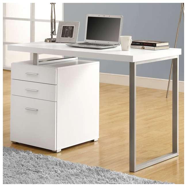 "VM-7027-U-C Monarch Specialties 48"" Contemporary Reversible Set Up Computer Desk (For Parts) 1"
