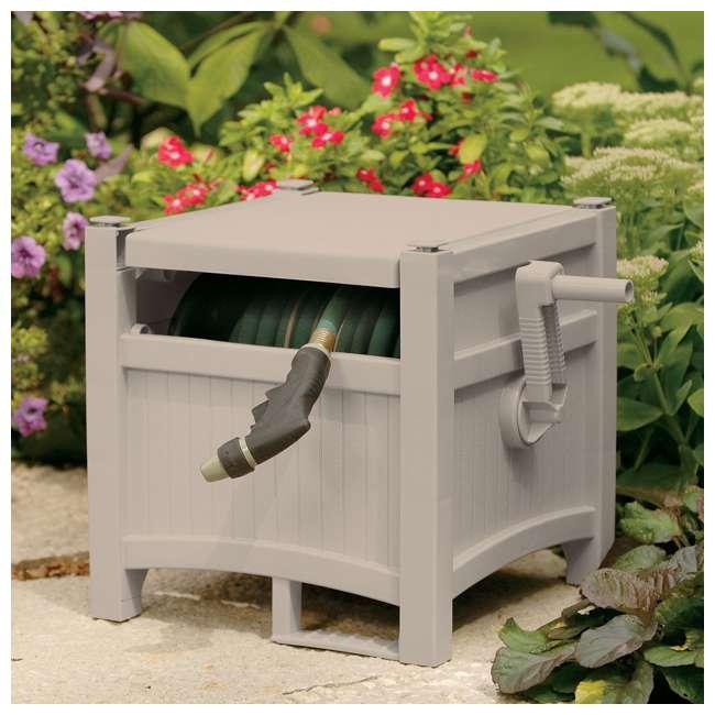PHH100D Suncast 100-Foot Hideaway Hose Reel, Taupe (Open Box) 3