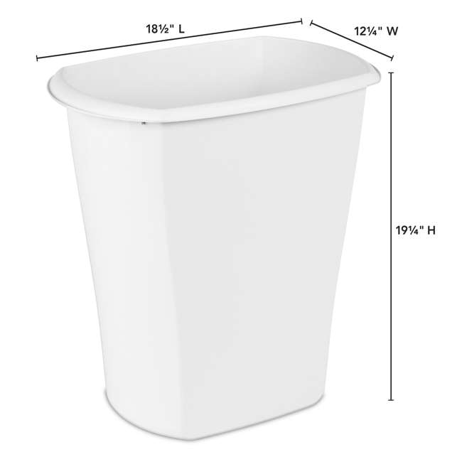 12 x 10538006 Sterilite 10538006 10 Gallon White Ultra Plastic Wastebasket Trash Can (12 Pack) 3