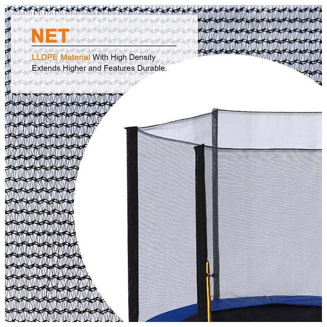 6180-T12COMBO ExacMe 12 Foot Trampoline with Safety Pad, Enclosure Net, and Ladder Combo Set 4