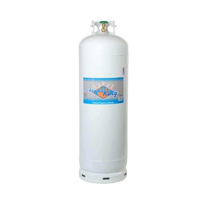 YSN100 Flame King YSN100 100 Pound Steel Empty Propane Cylinder w/ POL Valve and Collar