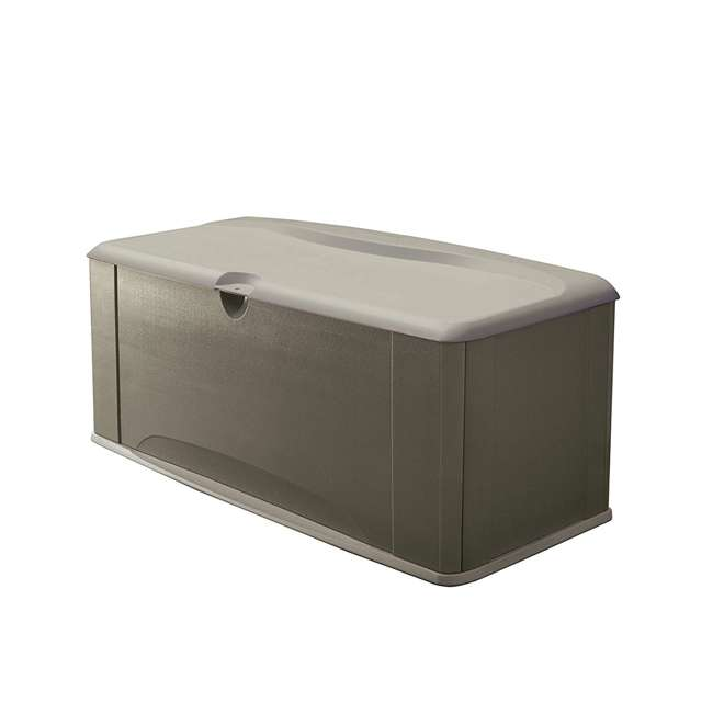 2047052 Rubbermaid Horizontal 16 Cubic Feet Storage Deck Box with Seat