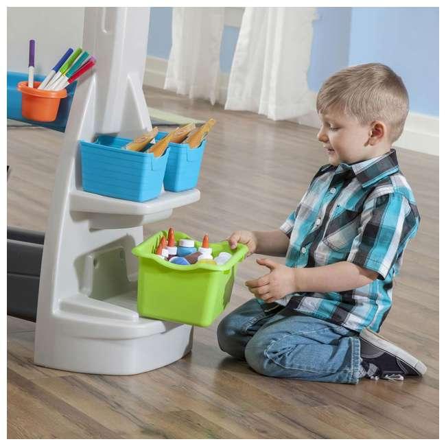 868500-U-A Step2 Jumbo Oversized Whiteboard and Chalkboard Art Easel for Kids (Open Box) 2