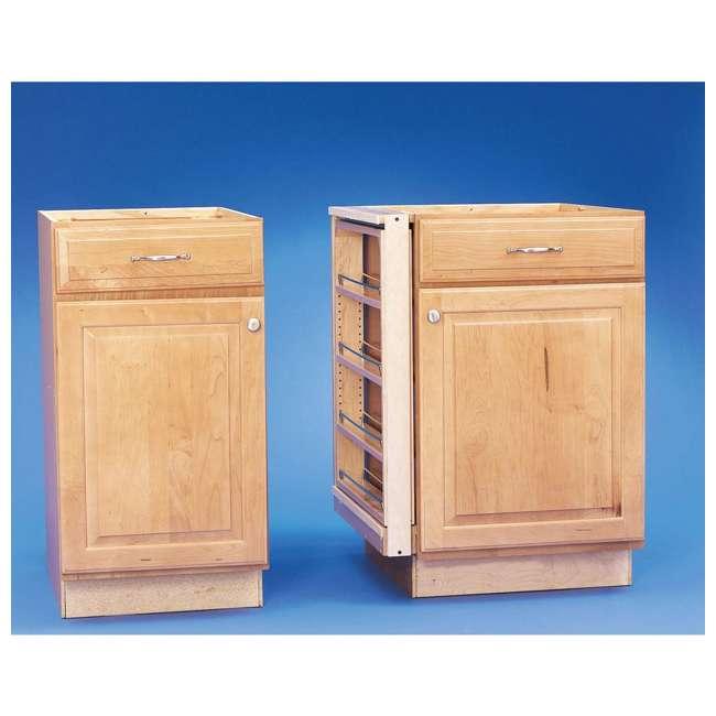 432-BF-3C-24 Rev A Shelf 3 Inch Base Filler Pullout Kitchen Wooden Spice Rack Holder Shelves 4