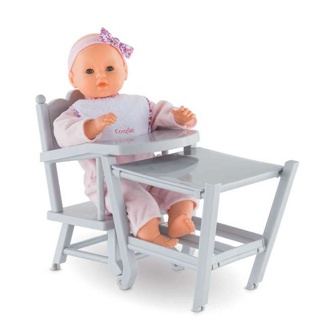 FRV07 + FPK23 Corolle Mon Grand Poupon Potty Training Emma Doll & Adjustable Toy High Chair 6
