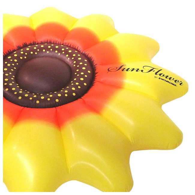 "90543-U-A Swimline Giant Inflatable 72"" Sunflower Island Pool Float (Open Box) (2 Pack) 3"