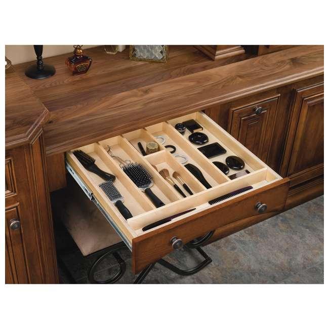 4WUT-3SH Rev-A-Shelf 4WUT-3SH Kitchen Drawer Shallow Wood Utility Tray Insert, Natural 1