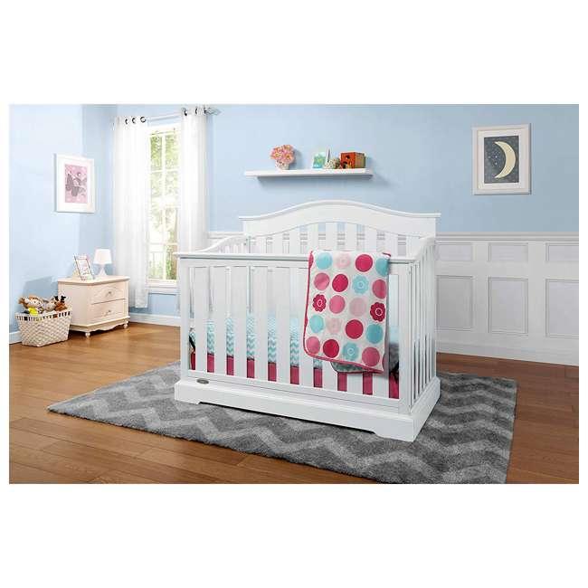 04550-041 + 06711-300 Graco Westbrook 4-in-1 Crib in White w/ Natural Foam Mattress 2