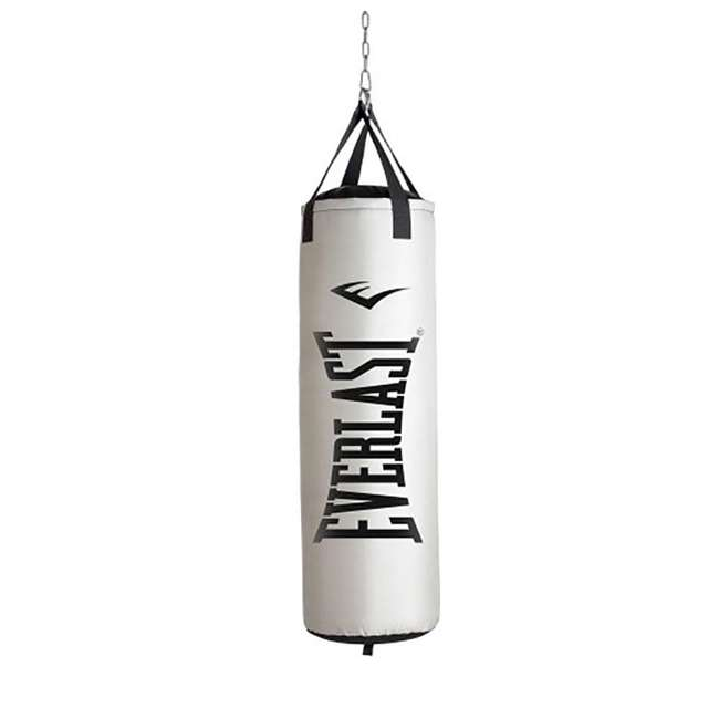 P00001220 Everlast Nevatear Fitness Workout 70 Pound Heavy Boxing Punching Bag, Platinum