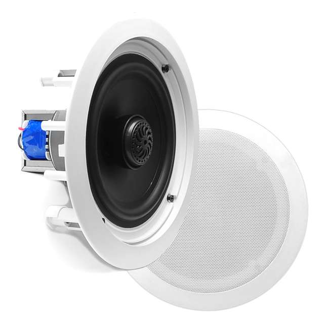 4 x PDIC60T Pyle Home 6.5-Inch 250W 2-Way In-Wall In-Ceiling Speakers, Pair (8 Pack) 1
