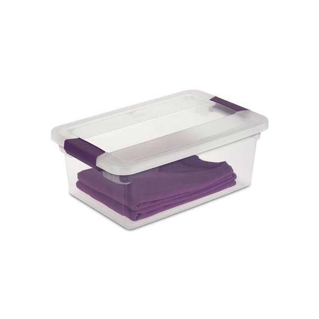 36 x 17531712-U-A Sterilite 15-Quart ClearView Latch Storage Tote Container (Open Box) (36 Pack) 3