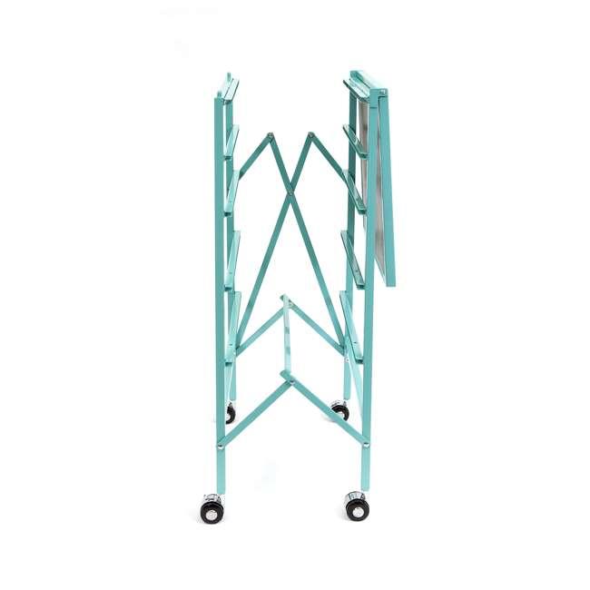 DFS-05-TURQ Origami Wheeled Foldable 5-Drawer Storage Cart, Turquoise  6