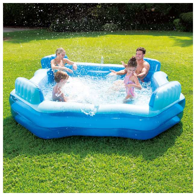 KB0706000167 Summer Waves Inflatable 4 Person Deluxe Comfort Pool 1