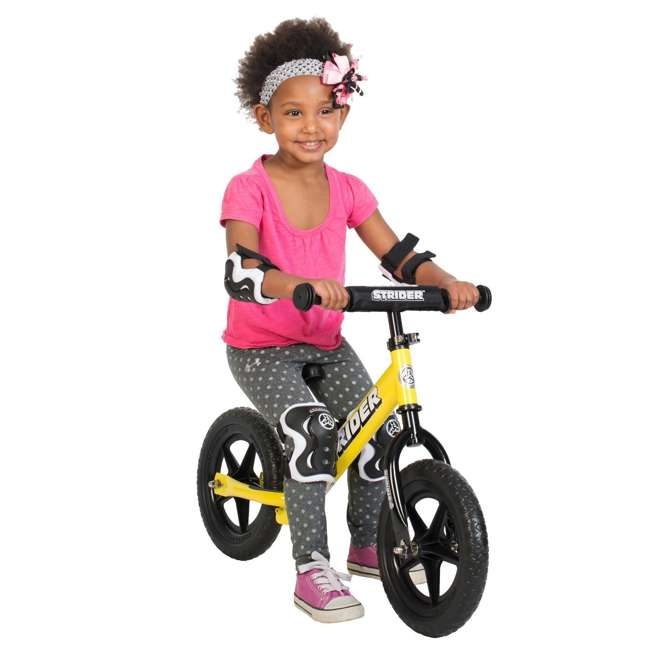 ST-S4WT + APADSET-SM Strider 12 Sport Balance Bike + Protection and Safety Elbow and Knee Pad Set 3