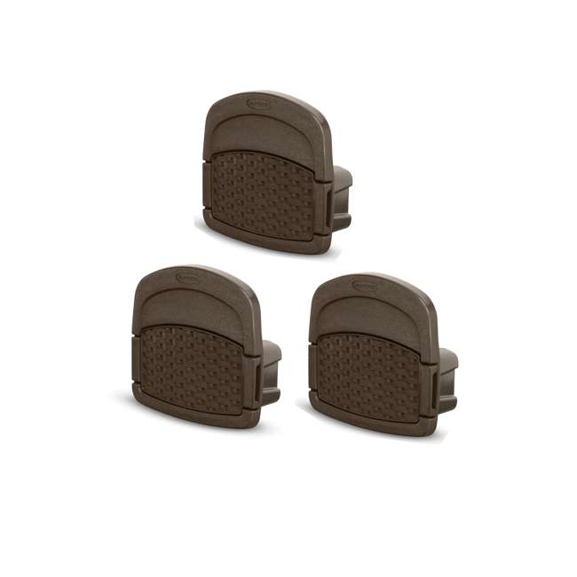 3 x DHW150 Suncast 150-Foot Wicker Garden Hose Hangout, Brown (3 Pack)