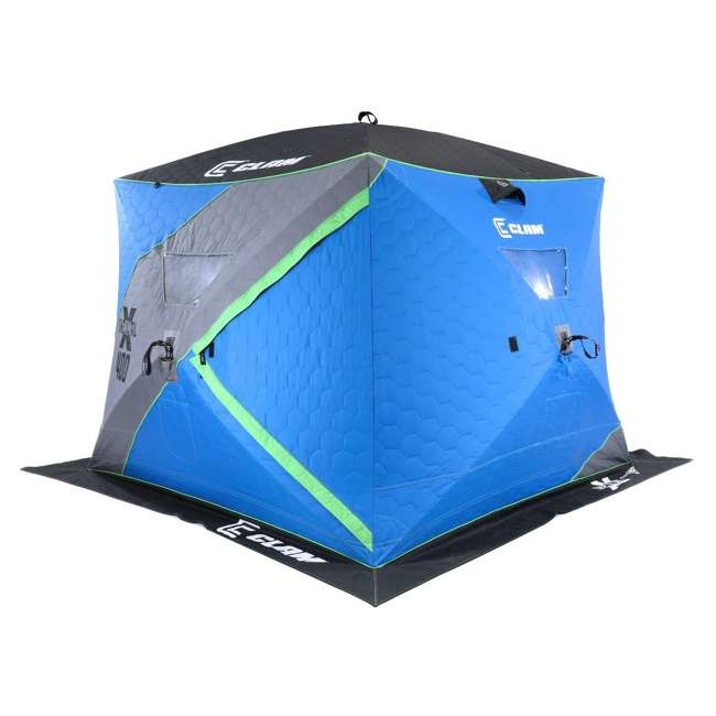 CLAM-14469 Clam X400 Thermal 4-6 Person Outdoor Portable Pop Up Ice Fishing Shelter Tent 1