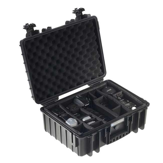 5500/B/SI B&W International 5500/B/SI Hard Plastic Outdoor Case w Removable SI Foam Insert 1