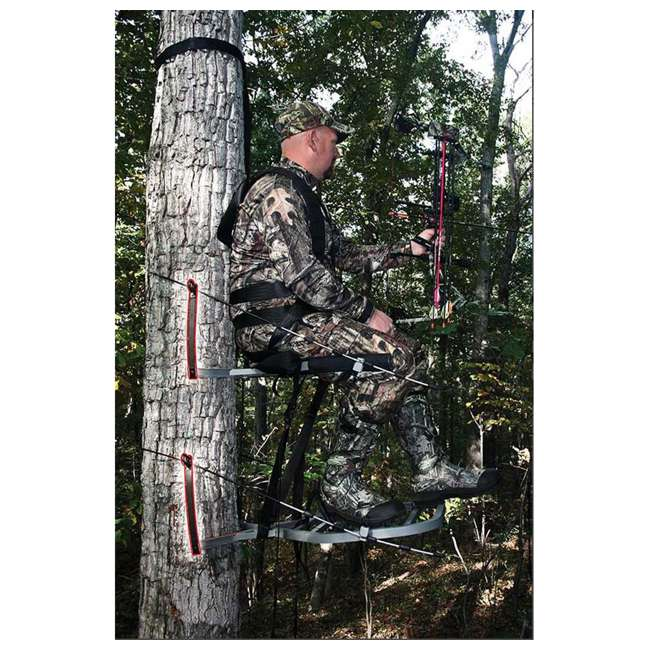 XSCT314 + XATA605 + XASA900-3 X-Stand X-1 Hunting Tree Stand w/ Camouflage Blind Kit & Rope System (3 Pack) 6