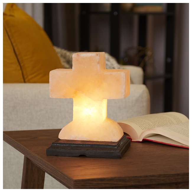 WNANG-100 + WNCR-100-84 Salacia Himalayan Carved Angel Salt Lamp Light and Cross Lamp, Pink (2 Pack) 6
