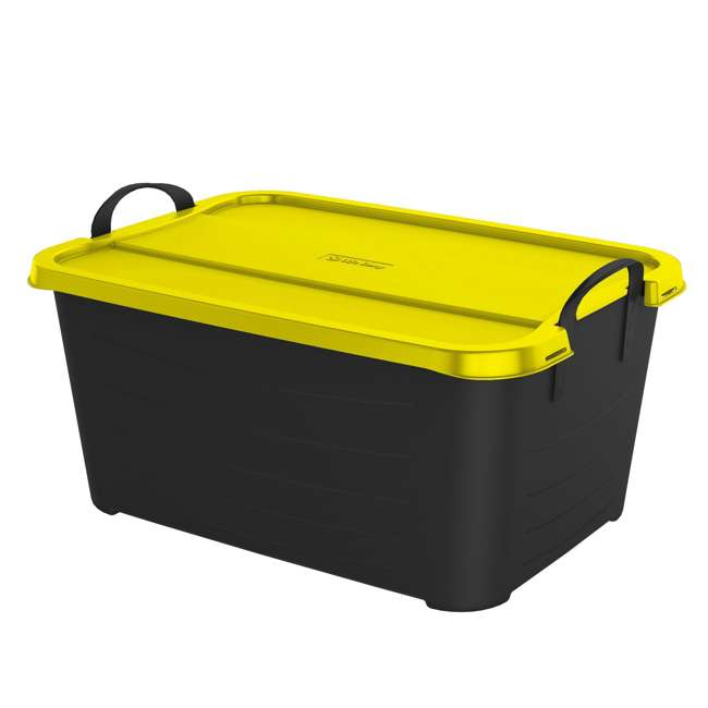 18 x CS-55BY Life Story 55-Quart Storage Bin with Handles, Black & Yellow (18 Pack) 1