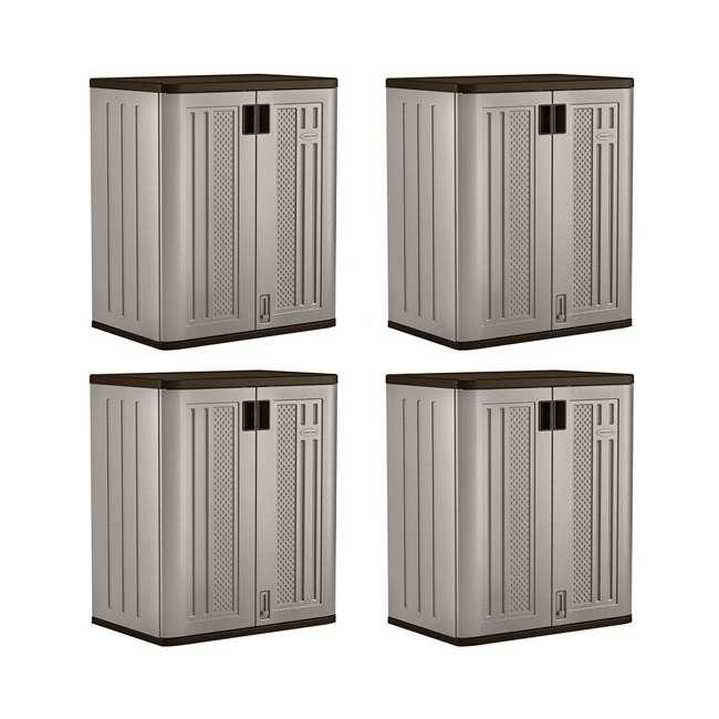 4 x BMC3600 Suncast Garage Base Storage Cabinet, Platinum (4 Pack)
