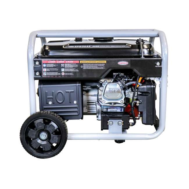 SMPSN-GN-SPG3645-70005-OB Simpson SPG3645 3,600-Watt Portable Heavy-Duty Generator (Open Box) 5