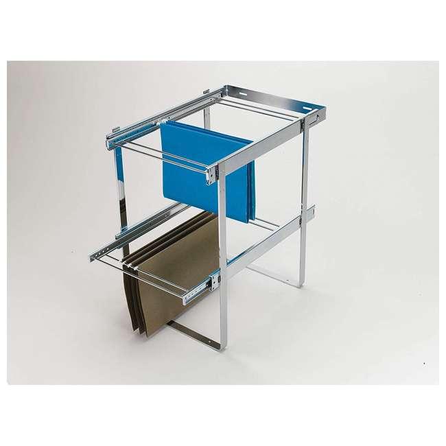 RAS-FD-KIT Rev-A-Shelf RAS-FD Series 2 Tier Standard Height Base Cabinet Organizer, Chrome