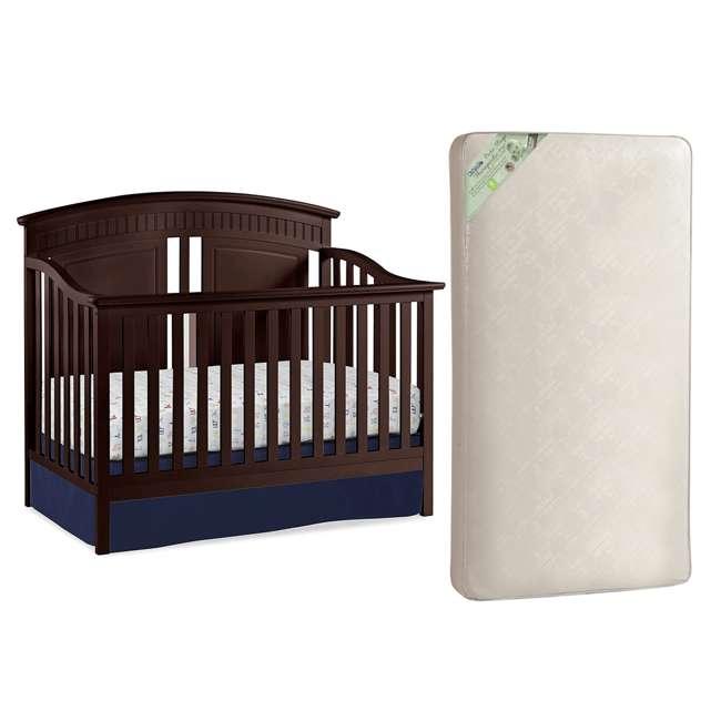 04565-109 + KM301-WGT1 Thomasville Majestic Crib, Espresso & Kolcraft Pure Sleep Mattress