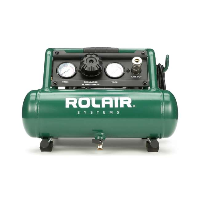 AB5PLUS Rolair AB5PLUS 1 Gallon 0.5HP 90 PSI Quiet Portable Pump Electric Air Compressor 1