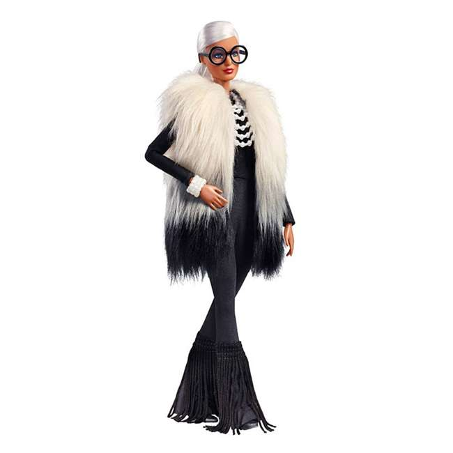 FWJ27 Barbie Collector Styled by Iris Apfel Doll with Multi-Hued Vest and Accessories 1