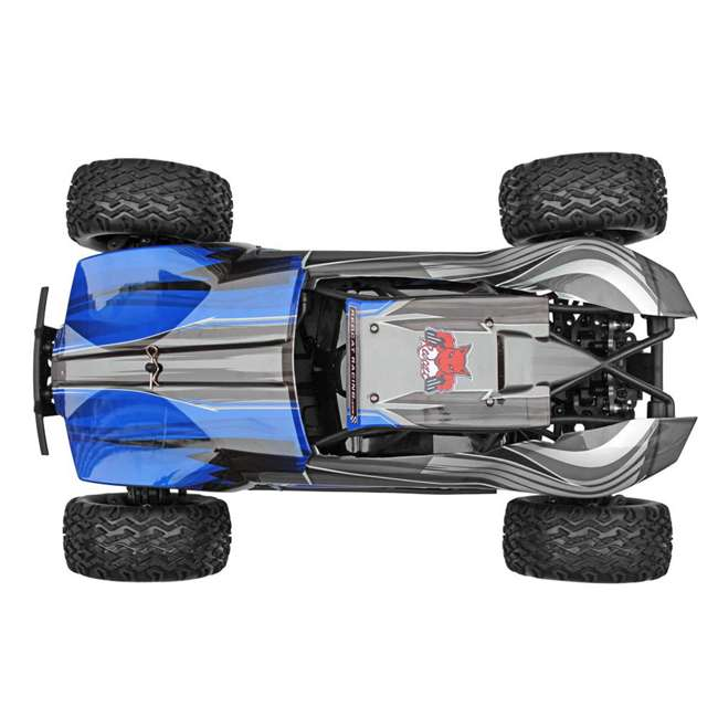 BLACKOUT-XBE-BLUE-U-C Redcat Racing 1/10 Scale Brushed Electric RC Monster Buggy, Blue (For Parts) 3