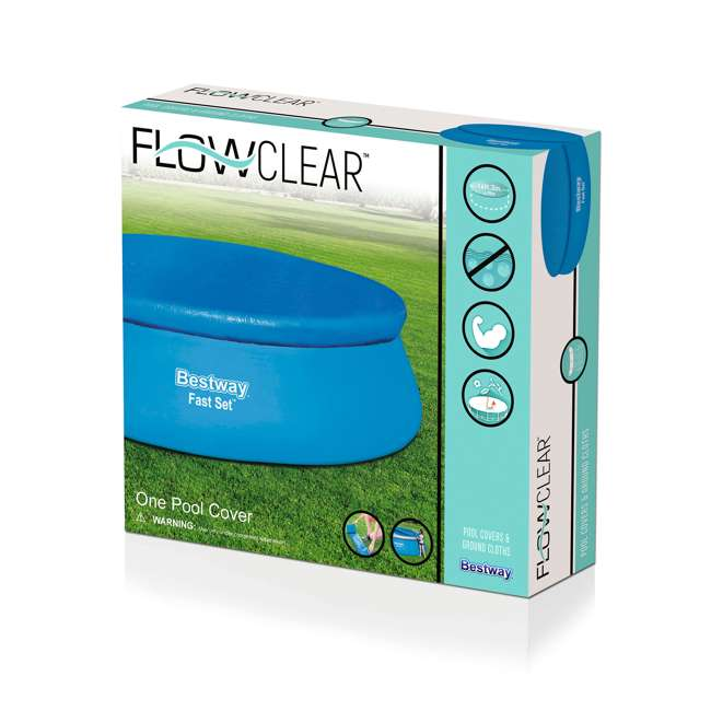 58035E-BW-U-A Bestway Flowclear Fast Set Pool Debris Cover for 15 Foot Round Pools (Open Box) 2