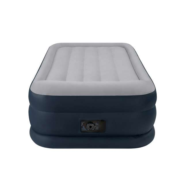 67731E Intex Deluxe Twin Air Mattress With Built-In Pump And Pillow Rest