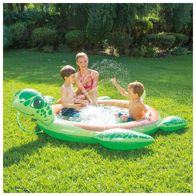K90403000167 Summer Waves Inflatable Turtle Baby Spray Pool 1