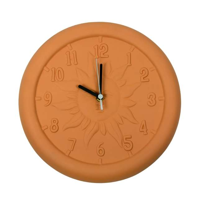 52550 Poolmaster 12-Inch Terra Cotta Decorative Patio Wall Clock