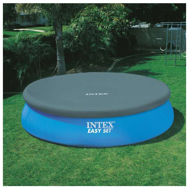 """26165EH-U-A Intex 15'x42"""" Inflatable Above Ground Pool w/ Ladder & Pump  (Open Box) (2 Pack) 2"""