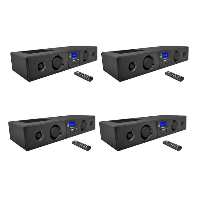 4 x PSBV200BT Pyle 300-Watt Max Bluetooth Radio Soundbar System  (4 Pack)