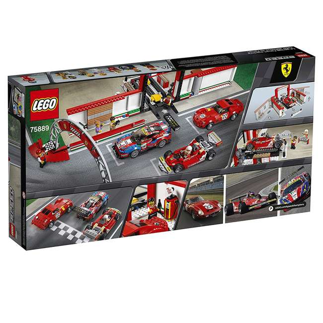 6212629 LEGO Speed Champions 841 Piece Ferrari Ultimate Garage Building Kit for Kids 8