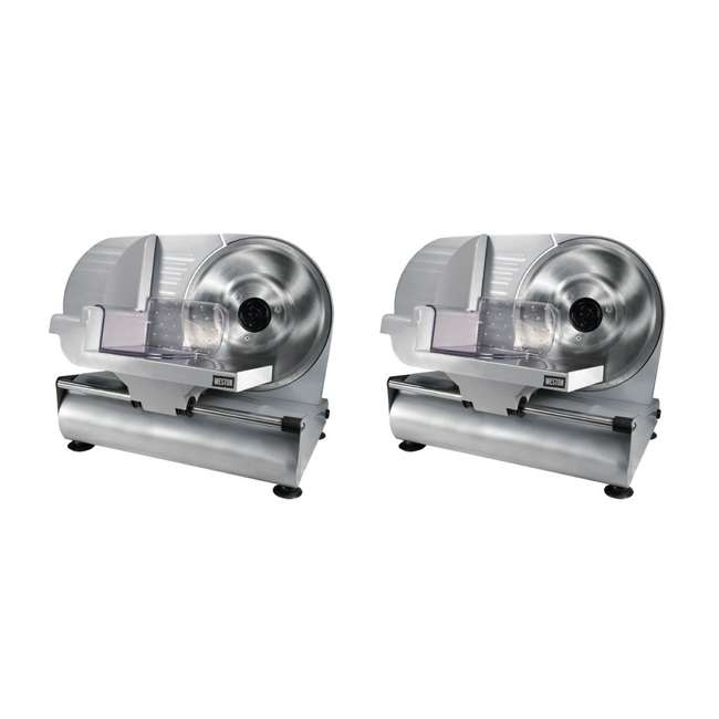 61-0901-W Weston 9-Inch Stainless Steel Electric Meat Slicer (2 Pack)