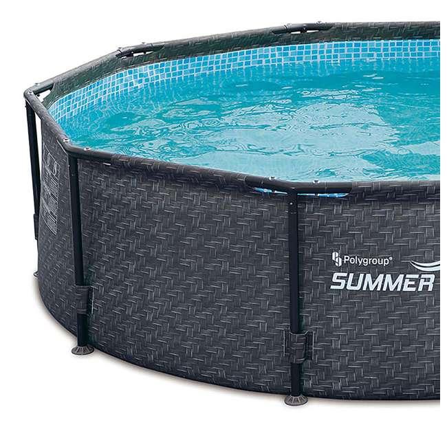 P2001448E167 + K2006 Summer Waves 14 Ft Pool Set w/ Taylor Water Test Kit 3