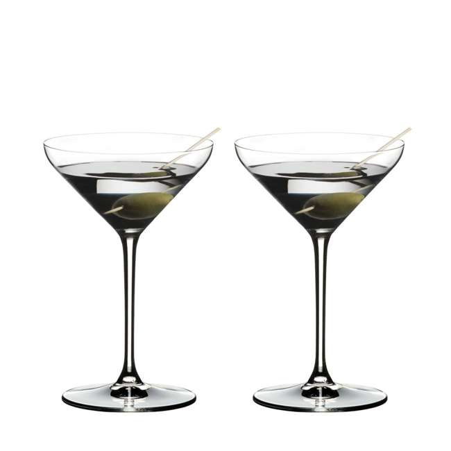 4441/17 Riedel Extreme Dishwasher Safe Crystal Cocktail Martini Glass, 8.8 Oz (2 Pack)
