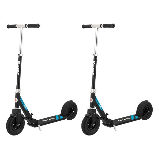 13013205 Razor A5 Air Everyday Kick Scooter, Black (2 Pack)