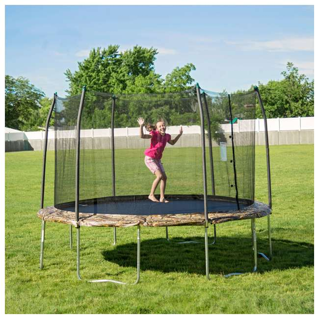 OWTC15 Skywalker Trampolines 15 Foot Round Outdoor Trampoline with Enclosure, Camo 1